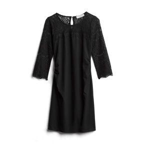 Ravine maternity 3/4 lace sleeve dress
